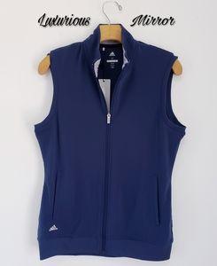 Adidas Dark Slate Full Zip Club Lightweight Vest